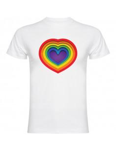 T-shirt Serce tęcza