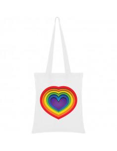 Bag heart rainbow
