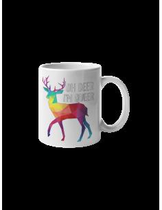 Oh Deer I'm Queer mug
