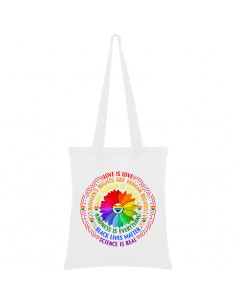 Rainbow flower bag with rules