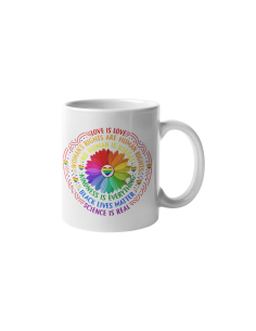 A cup of rainbow flower...