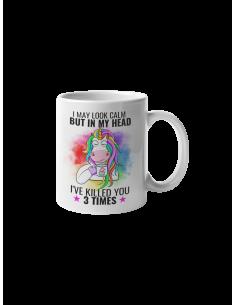 Mug I may look calm but in...