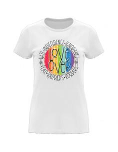 Women's T-shirt Love over hate