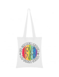 Love over hate bag